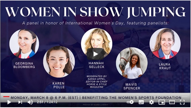 Women in show jumping – March 8